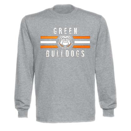 Green Bulldogs General Logo #4 Unisex Long Sleeve T-Shirt