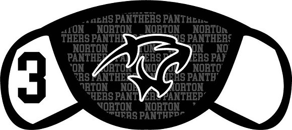 Norton Panthers Face Mask