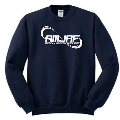 AMJRF White Logo Unisex Crew Sweatshirt