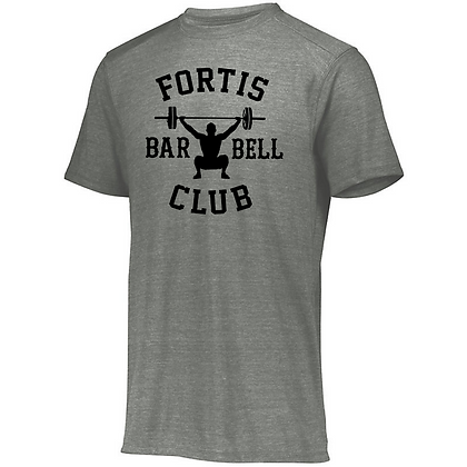 Fortis Weightlifting Barbell Club Logo B (Black) Unisex Tri-blend T-Shirt