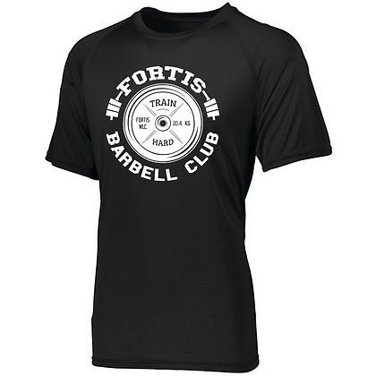 Fortis Weightlifting Barbell Club Logo C (White) Men's Compression