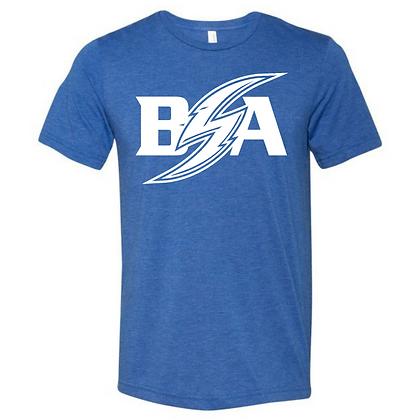 Blue Storm Athletics Logo (White) Unisex Triblend