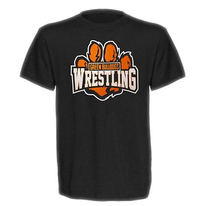 Green Bulldogs Wrestling Logo #59 Unisex T-Shirt