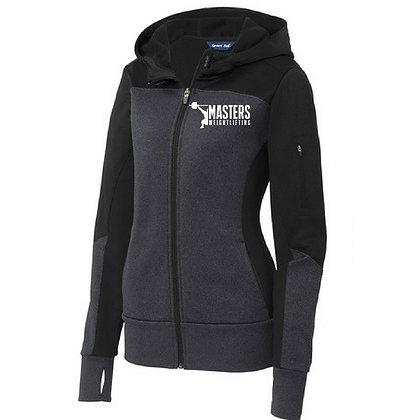 Masters Weightlifting Sport Tek Women's Jacket - Black/Graphite