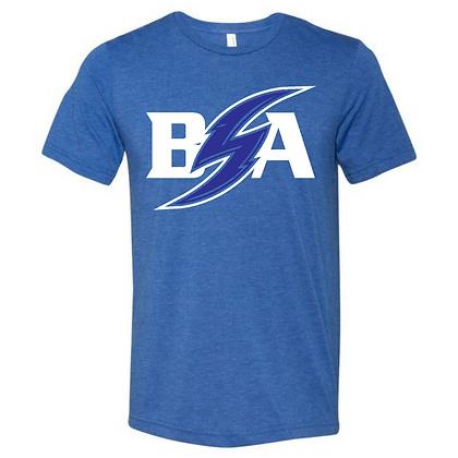 Blue Storm Athletics Logo (White & Blue) Unisex Triblend (Front only)