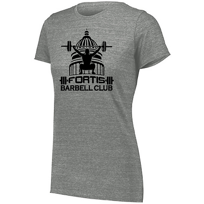 Fortis Weightlifting Barbell Club (Black Logo) Ladies Tri-blend