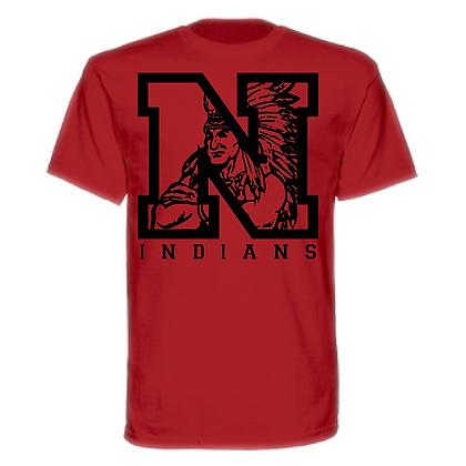Northwest Indians Black Block N Indian Unisex T-Shirt