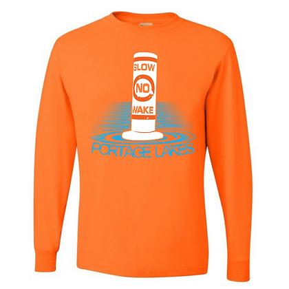 Slow No Wake Portage Lakes Unisex Long Sleeve T-Shirt