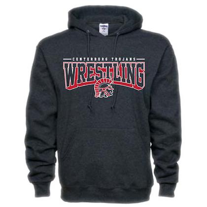 Centerburg Trojans Wrestling Charcoal Unisex Hoodie