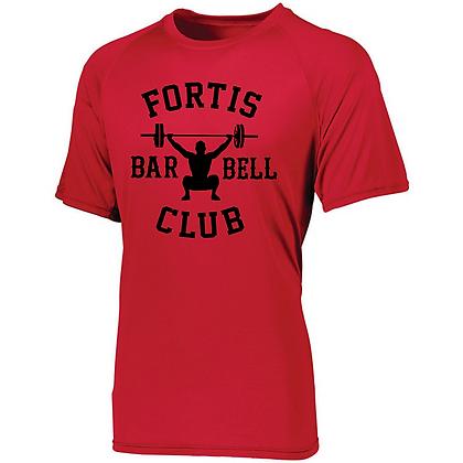 Fortis Weightlifting Barbell Club Logo B (Black) Men's Compression