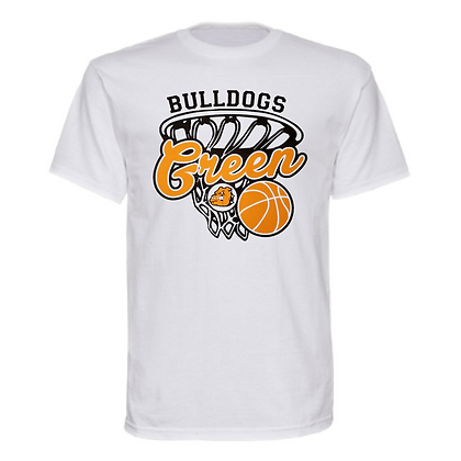 Green Bulldogs Basketball Logo #28 Unisex T-Shirt