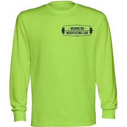 Wilmington Unisex Long Sleeve Black Left Chest Logo