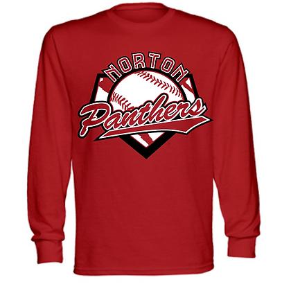 Norton Panthers Baseball Logo #30 Unisex Long Sleeve T-Shirt