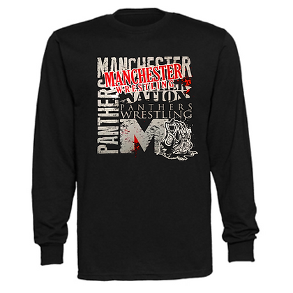 Manchester Panthers Wrestling Logo #89 Unisex Long Sleeve T-Shirt