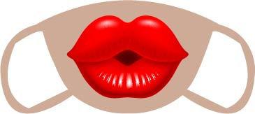 Kissy Lips Face Mask