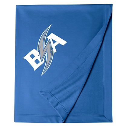 Blue Storm Athletics Logo (White & Gray) Blanket