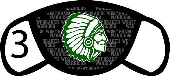 West Branch Warriors Masks