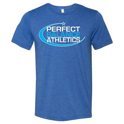 Perfect Balance Athletics (Solar Blue & White) Unisex Triblend T-Shirt