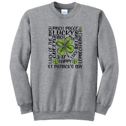St. Patrick's Day Shamrock Unisex Cotton blend Crewneck