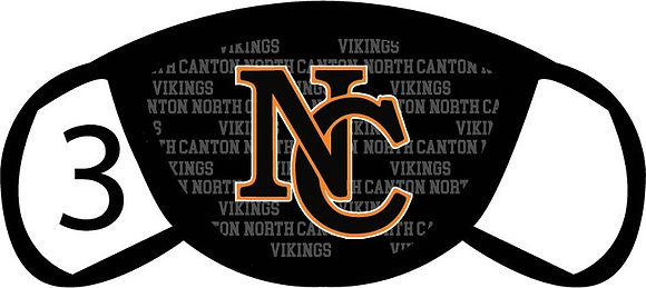 North Canton Vikings Face Mask