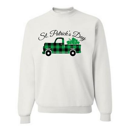 St. Patrick's Day Truck Unisex Cotton blend Crewneck