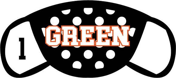 Green Polka Dots Mask