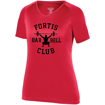 Fortis Weightlifting Barbell Club Logo B (Black) Women's Compression Shirt