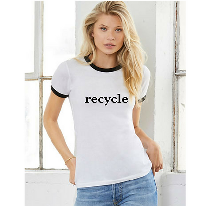 Tree Tee recycle Ringer T-shirt