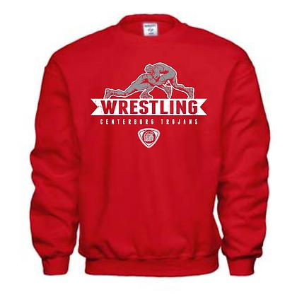 Centerburg Trojans Wrestling Red Unisex Crew Neck Sweater