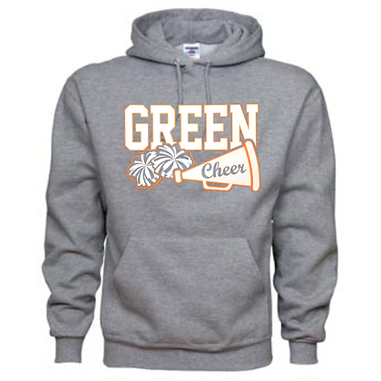 Green Bulldogs Cheer Logo #30 Unisex Hoodie