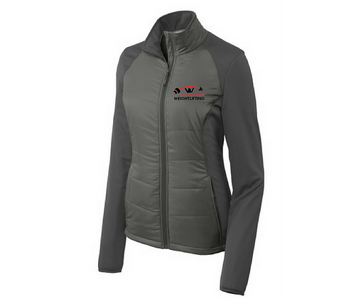 Team Savannah Womens Sport-Tek Soft Shell Jacket (Grey)- Embroidered