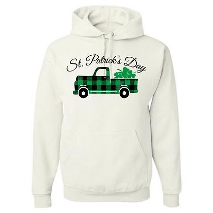 St. Patrick's Day Truck Unisex Cotton blend Hoodie