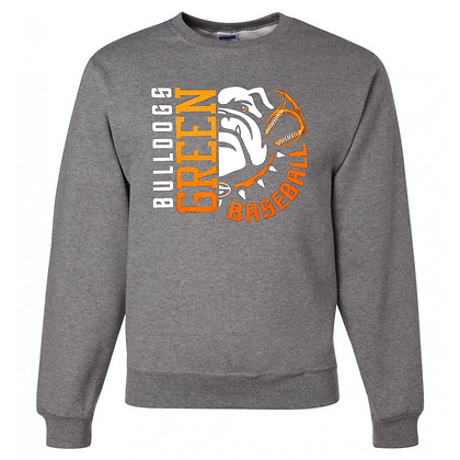 Green Bulldogs General Logo #24 Unisex Crew Neck Sweatshirt