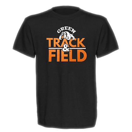 Green Bulldogs Track and Field Logo #54 Unisex T-Shirt