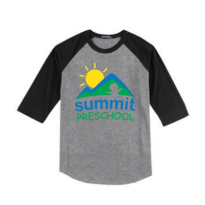 Summit Preschool Full Front Baseball Tee