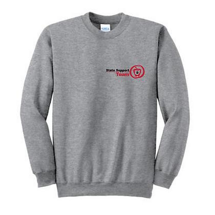 State Support Team Left Chest Adult Crewneck Sweatshirt