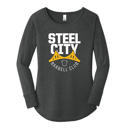 Steel City Design #3 Ladies Long Sleeve Triblend