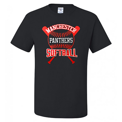 Manchester Panthers Softball Logo #68 Unisex T-Shirt