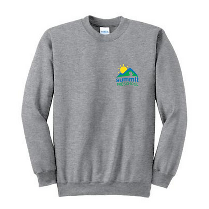 Summit Preschool Left Chest Adult Crewneck Sweatshirt
