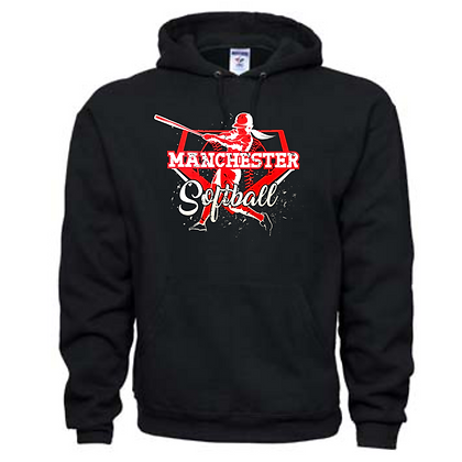 Manchester Panthers Softball Logo #67 Unisex Hoodie