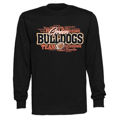 Green Bulldogs Football Logo #38 Unisex Long Sleeve T-Shirt