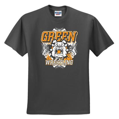 Green Bulldogs Wrestling Logo #9 Unisex T-Shirt