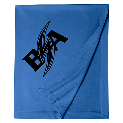 Blue Storm Athletics Logo (Black) Blanket