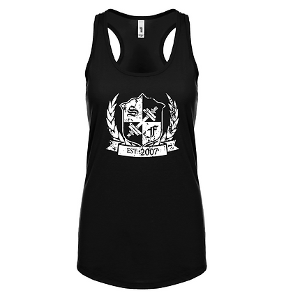 Summer's Distressed Shield Racerback Tank