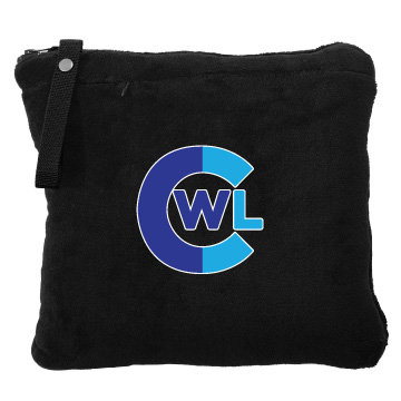 CWL Embroidered Travel Blanket/Pillow
