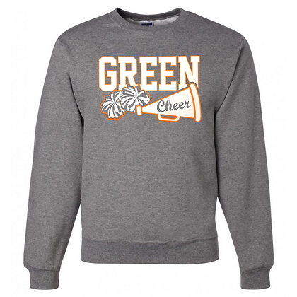 Green Bulldogs Cheer Logo #30 Unisex Crew Neck Sweater