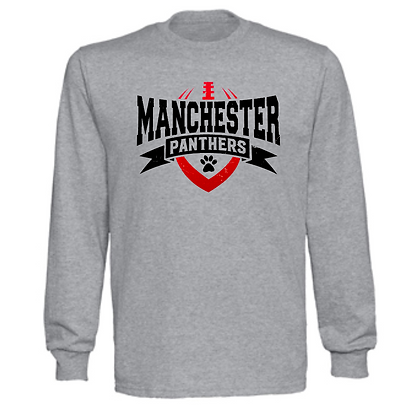 Manchester Panthers Football Logo #62 Unisex Long Sleeve T-Shirt