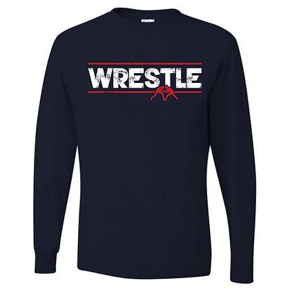 Wrestling Logo #36 Unisex Long Sleeve T-Shirt