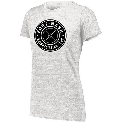 Fort Nash Weightlifting Club Logo A Ladies Tri-blend T-Shirt