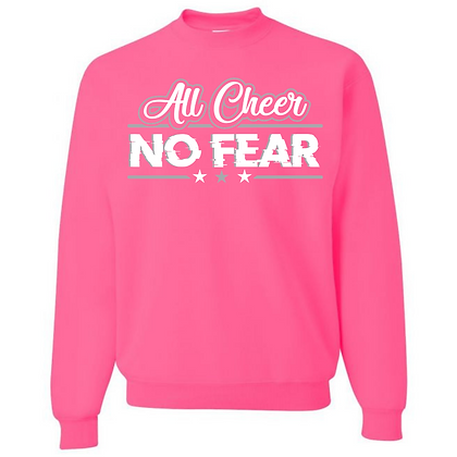 All Cheer No Fear Unisex Crew Neck Sweater